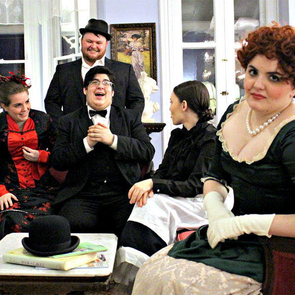 Murder Mystery Dinner Cast in costumes