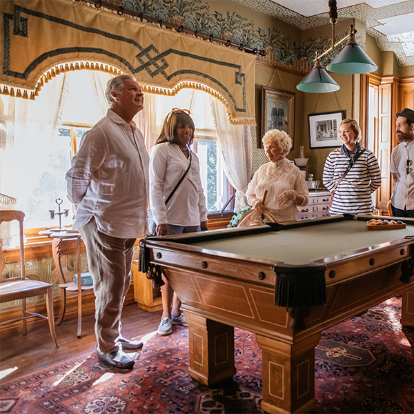 Emlen physick estate tour of the billiard room