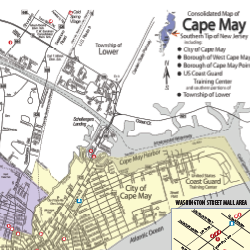 Small snipit of a cape may map