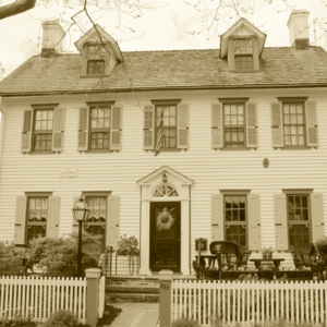 Cherry House, a private home in cape may, looking spooky for a halloween haunts tour