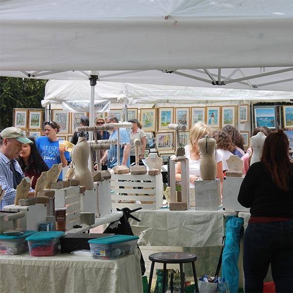 Crafts show jewelry vendor