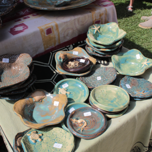 pottery table set up at a cape may mac festivals events