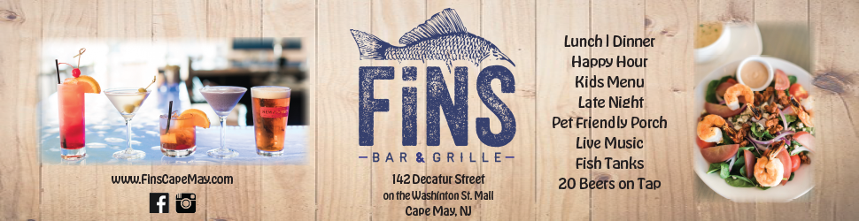 Fins Bar & Grille Restaurant in Cape May New Jersey