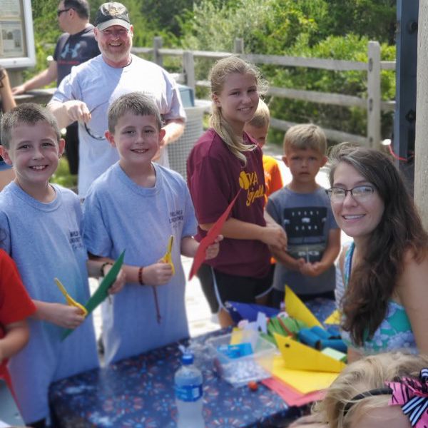 Kids crafts at the world war ii lookout tower