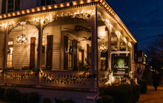 Casablanca Bed & breakfast in Cape May, decorated for christmas