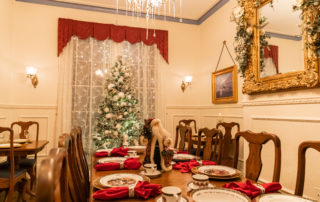 Christmas decorated dinning room