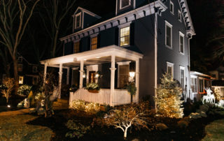 dark blue house with white trim in Cape May
