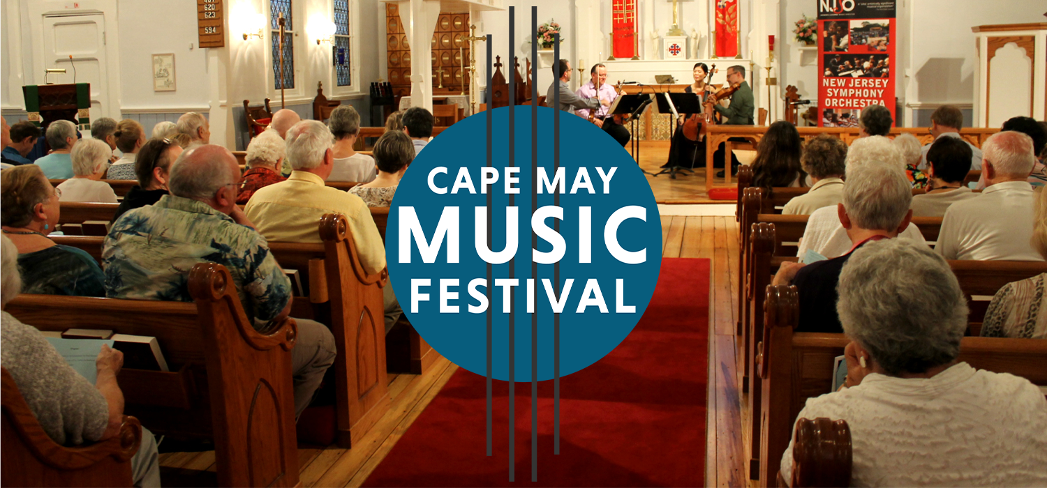 Church filled with people for the Cape May Music Festival Concert