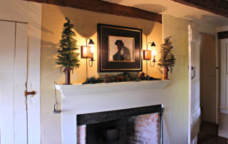 Fireplace in the Owen Coachmen colonial home in cape may new jersey