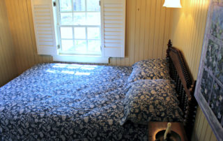 Colonial era bedroom in the Owen Coachman House in Cape May New Jersey