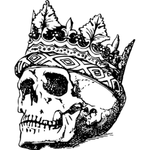 skull with crown on it