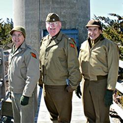 Joel Gonzales, Col. Shawn Welch & Paul Cusano, VOLUNTEERS OF THE MONTH