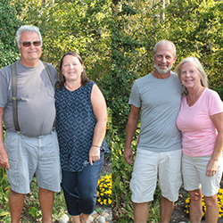 JOE AND CATHY NOLL, DAVE AND KATHY MORAIS, VOLUNTEER OF THE MONTH