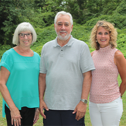 TINA ANGSTADT, JIM DEL GROSSO & JILL BREMER, VOLUNTEER OF THE MONTH
