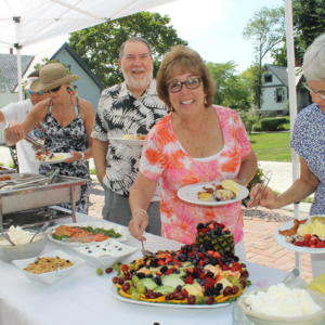 Breakfast buffet line for mothers day at the physick estate