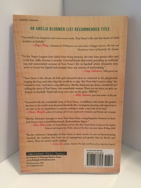 Back cover of Curveball book with reviews.
