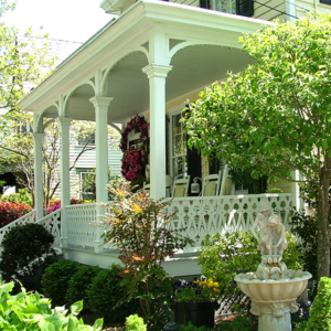 Victorian style porch located in cape may new jersey