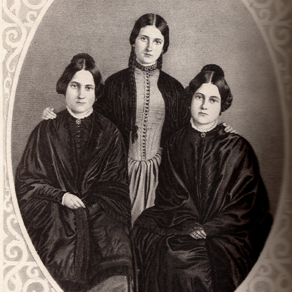 a photo of the fox sisters