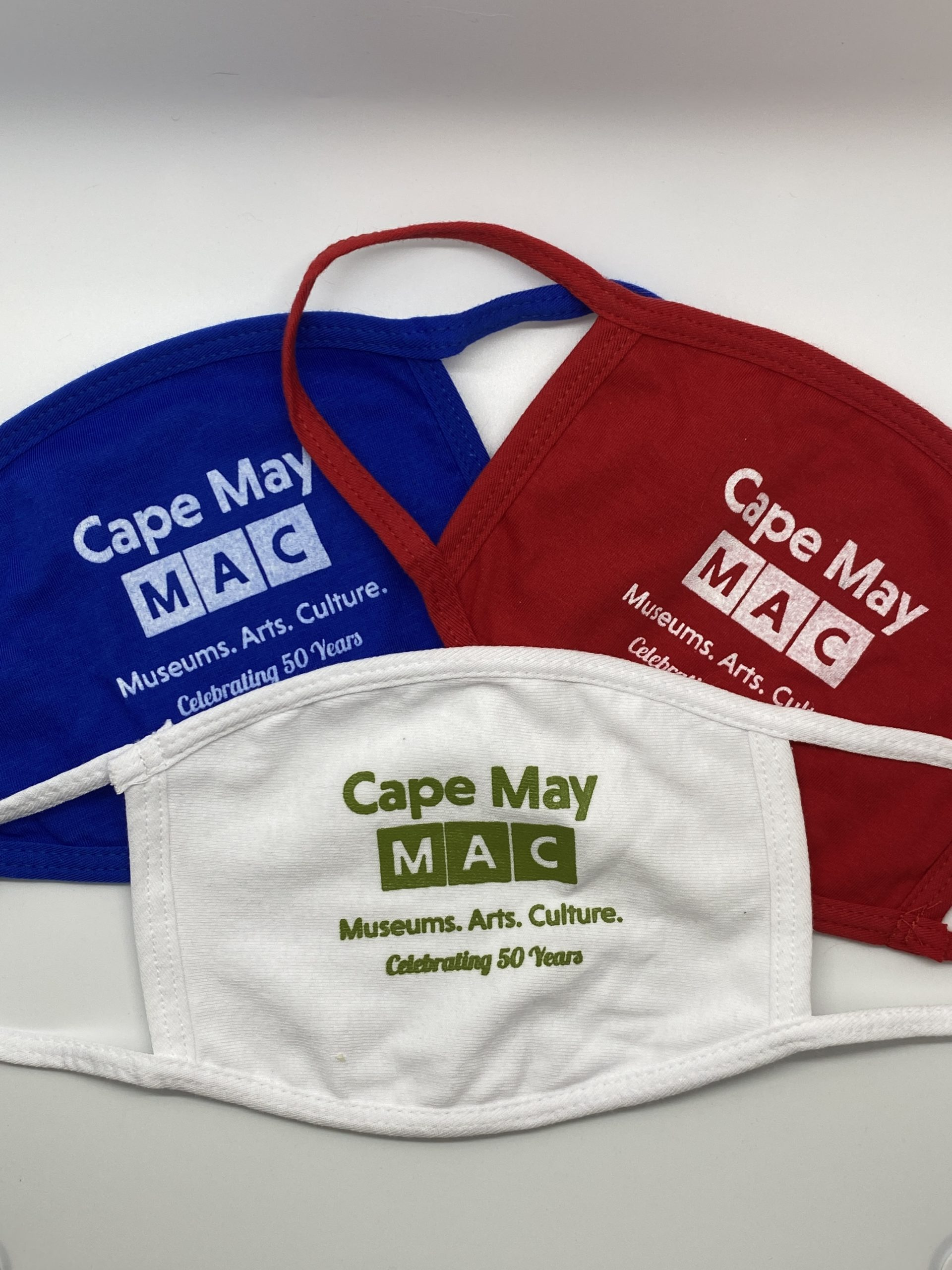 Face masks with Cape May MAC logo