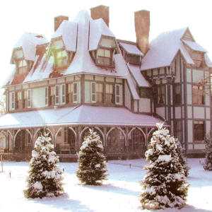 Emlen Physick Estate with a fresh coating of snow