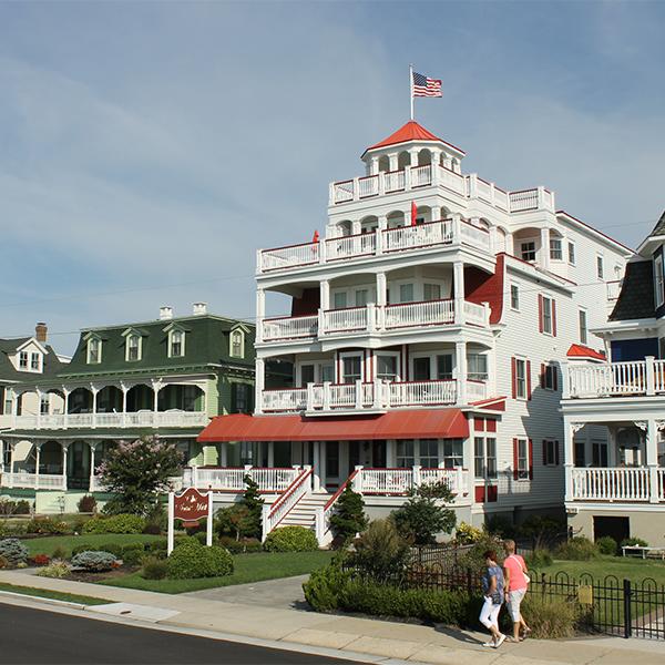 Beachfront mansions